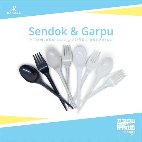 Sendok garpu foodgrade / perlengkapan takeaway makanan