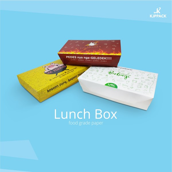 Kotak Nasi Cetak Desain Full Warna - Kotak nasi Pengganti sterofoam