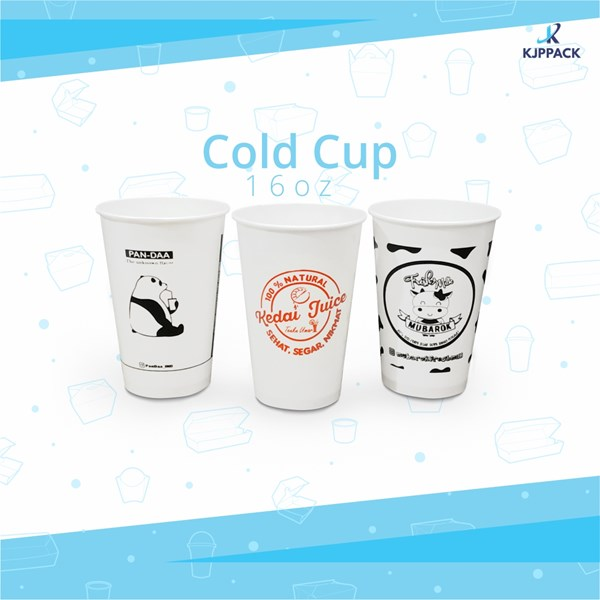 Print Cold Cup Paper Cup Packaging 16 oz