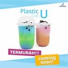 Gelas Plastik bentuk U / Plastik Cup U / Gelas Kopi Masa Kini bagian bawah oval Kota Semarang 1
