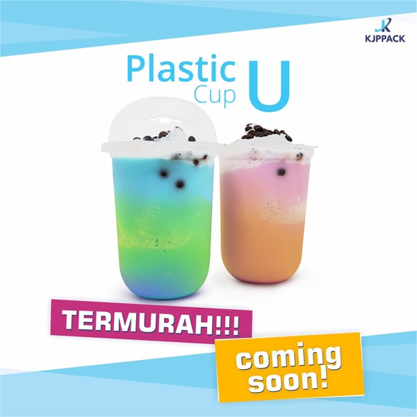 U-shaped Plastic Cup / Plastic U Cup / Coffee Cup Present Now the bottom of the Semarang City oval