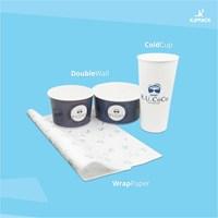 Buat kemasan makanan dan minumanmu lebih menarik dengan cetak desain logo/branding caffee kamu!