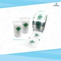 Sablon Lid roll kualitas terbaik / Desain logo / tulisan pada lid sealer cup