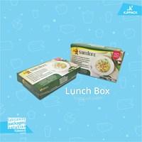 Lunch box eco friendly / kemasan mie dan aneka nasi bentuk trapesium unik