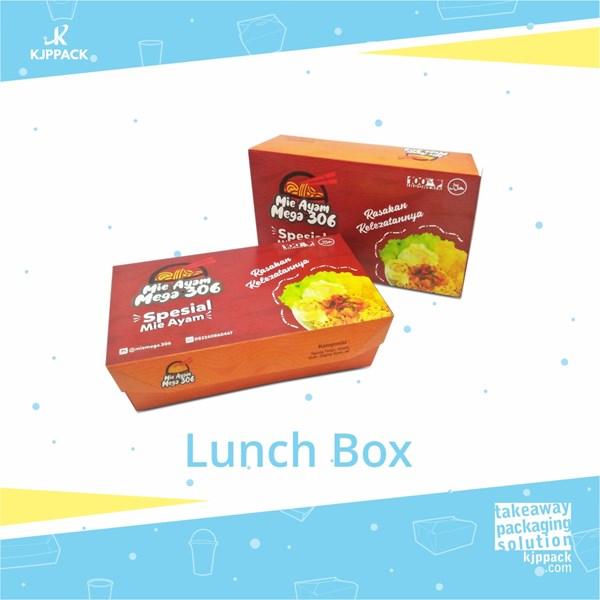 Cetak kemasan makanan / Packaging makanan Lunch Box berbagai ukuran