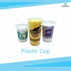Thai tea cup plastic screen printing - plastic coffee cup and plastic juice cup 1