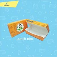 LUNCH BOX MEDIUM PRINT LOGO DESAIN FULL COLOR / KOTAK NASI ECO FRIENDLY