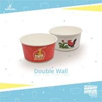 Paper bowl 720 ml / 24 oz cetak desain Double wall