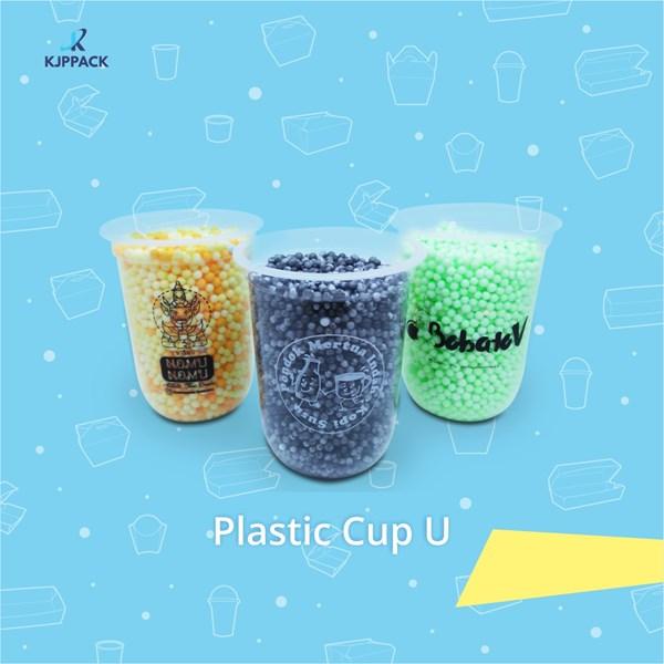 Sablon plastik cup U / Sablon Gelas Oval Termurah dan berkualitas