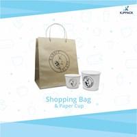 Cari packaging ice cream - paper cup ice cream sablon logo / tulisan