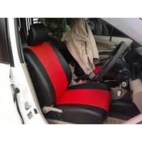 Jual Kulit Jok Mobil Merah Hitam