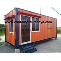 Container Office Murah for Security Post extra Toilet 1
