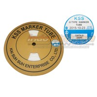 Kss Marker Tube Omt 4.0 200Mtr Per Roll Putih  Cable Marker  1