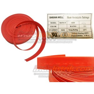 Shrink-Well Heatshrink Cable Low Voltage size 25 (Lebar Pipih 40mm) Selongsong Kabel