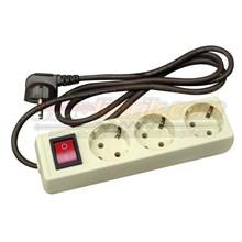 Uticon Stop Kontak Arde 3 Lubang+Saklar+Kabel ST-1382
