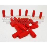 Nintoku Vinyl End Cap V1.25 Merah Pelindung Kabel Lug 1