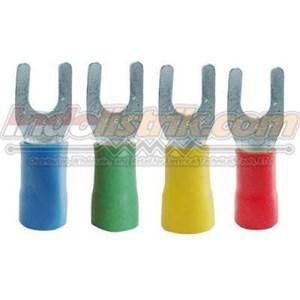 CL Kabel Skun Garpu Isolasi YF 5.5 - 6 Merah Insulated Kabel Lug