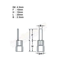 Jual CL Kabel Skun Gepeng PIN 1.25 AF Merah Insulated Kabel Lug 2