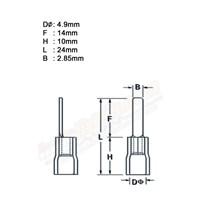 Jual CL Kabel Skun Gepeng PIN 2 AF Biru Insulated Kabel Lug 2