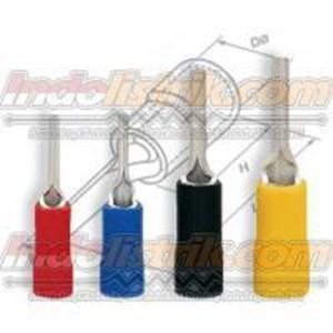 CL Kabel Skun Bulat Panjang PIN 2-18FR Biru Insulated Kabel Lug