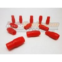 Nintoku Vinyl End Cap V14 Merah Pelindung Kabel Lug 1