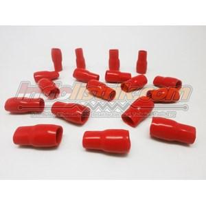 Dari Nintoku Vinyl End Cap V22 Merah Pelindung Kabel Lug 0