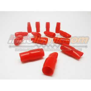Nintoku Vinyl End Cap V38 Merah Pelindung Kabel Lug