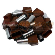 CL Twin End Insulated Ferrules 10.00 mm Coklat Kabel Lug