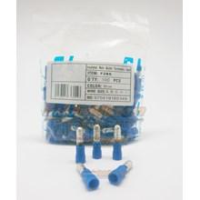 CL Skun male bullet (Peluru) F2BS Biru Kabel Lug