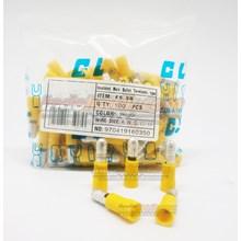 CL Skun male bullet (Peluru) F5.5B Kuning Kabel Lug