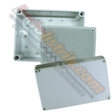 Tibox ABS Plastic Box 80x110x85mm Abu-abu + Base Plate Box Panel