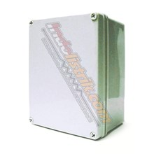 Tibox ABS Plastic Box 125x125x75mm Abu-abu + Base Plate Box Panel
