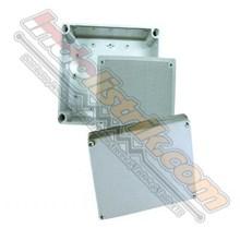 Tibox ABS Plastic Box 125x125x100mm Abu-abu + Base Plate Box Panel