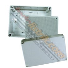 Tibox ABS Plastic Box 150x200x100mm Abu-abu + Base Plate Box Panel