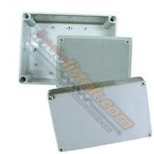 Tibox ABS Plastic Box 150x200x130mm Abu-abu + Base Plate Box Panel