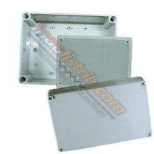 Tibox ABS Plastic Box 150x250x130 Abu-abu + Base Plate Box Panel