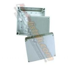 Tibox ABS Plastic Box 200x200x130 Abu-abu + Base Plate Box Panel
