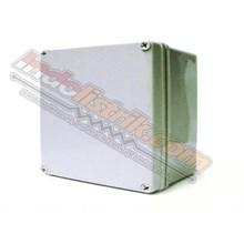 Durabox ABS Plastic Box 125x125x75mm Abu-abu + Base Plate Box Panel
