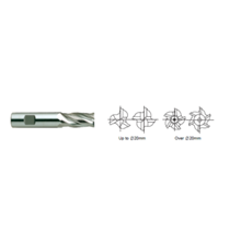 HSS Cobalt 8% End Mills E2753 – Multi F Short Roughing – Fine