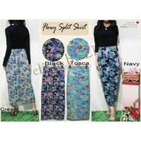Jual Flowy Split Skirt Bhn Cotton Streach