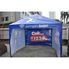 Tenda Cafe Promosi Full Dinding