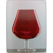 Glass Vase Borneo DC - Red Gloss