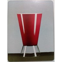 Jual Glass Vase Goliat DC Dual Red
