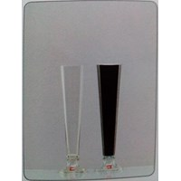Jual Glass Vase Florida A-1 DC Clear Dual Black