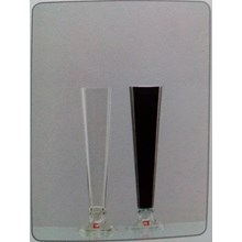 Glass Vase Florida A-1 DC Clear Dual Black