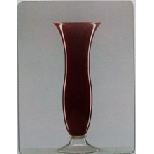 Glass Vase With Lotus-DC Dual Red