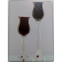 Jual Glass Vase Martina A - DC Dual Red or B - Dual Black