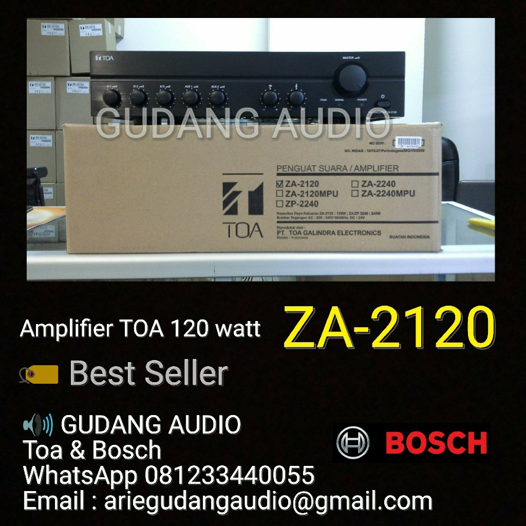 jual amplifier toa za 2120 120 watt harga murah jakarta oleh gudang audio. Black Bedroom Furniture Sets. Home Design Ideas