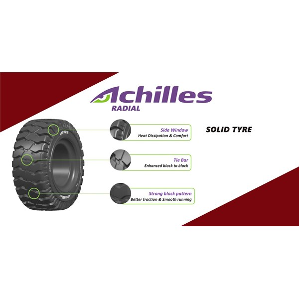 Ban Alat Berat Roda Forklift Achilles 7.00-12/5.00