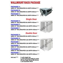 Wallmount Rack Package ABBA-RACK Single Door